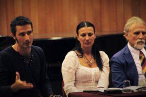 Con Silvia Priori e Moni Ovadia - Conferenza stampa a Milano per Varese Festival dei due Mondi - Direzione Artistica Silvia Priori